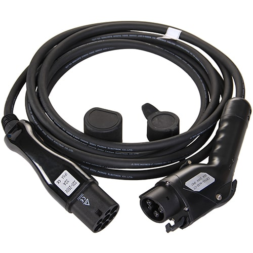 1-EV Typ 2 -> Typ 1 (32A) Elektroauto Ladekabel