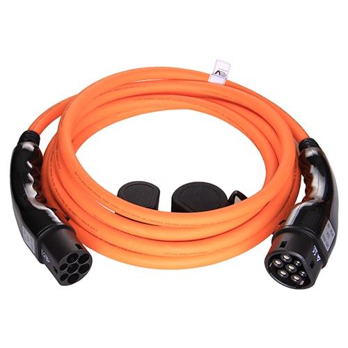 1-EV Typ 2 -> Typ 2 orange (3x32A) Elektroauto Ladekabel