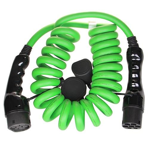 2-EV Typ 2 -> Typ 2 spiral (3x32A) Elektroauto Ladekabel